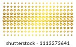 sms icon gold halftone pattern. ... | Shutterstock .eps vector #1113273641