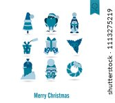 christmas and winter icons... | Shutterstock .eps vector #1113275219