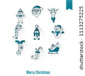 christmas and winter icons... | Shutterstock .eps vector #1113275225