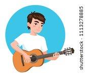 musician playing guitar. asian...   Shutterstock .eps vector #1113278885