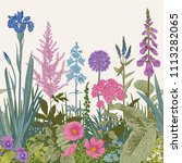 seamless border. vector vintage ... | Shutterstock .eps vector #1113282065