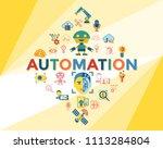 digital vector deep machine... | Shutterstock .eps vector #1113284804