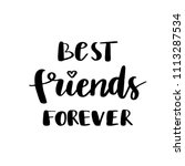 best friends forever postcard.... | Shutterstock .eps vector #1113287534
