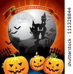 halloween card design   Shutterstock . vector #111328844