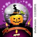 halloween card design | Shutterstock . vector #111328931