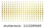 antenna icon golden halftone... | Shutterstock .eps vector #1113289685