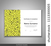 certificate of completion  ... | Shutterstock .eps vector #1113300005