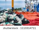 red and crimson nylon fishing... | Shutterstock . vector #1113314711