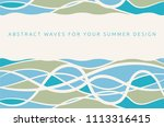 abstract summer background with ... | Shutterstock .eps vector #1113316415