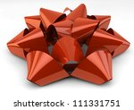 render of a red bow - stock photo
