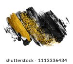 art and gold. black paint... | Shutterstock . vector #1113336434