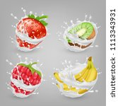 vector 3d realistic ripe... | Shutterstock .eps vector #1113343931