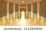 vector castle hall  interior of ... | Shutterstock .eps vector #1113343934