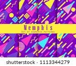 seamless geometric patterns of... | Shutterstock .eps vector #1113344279