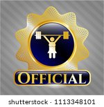 gold emblem or badge with... | Shutterstock .eps vector #1113348101