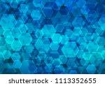 light blue vector blurry... | Shutterstock .eps vector #1113352655