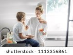 beautiful smiling caucasian...   Shutterstock . vector #1113356861