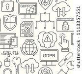 vector gdpr   general data... | Shutterstock .eps vector #1113357551