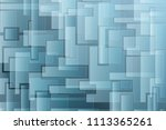 geometric background with blue... | Shutterstock .eps vector #1113365261