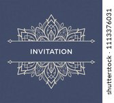 save the date invitation card... | Shutterstock .eps vector #1113376031