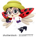 illustration of a lady bug... | Shutterstock .eps vector #1113377777