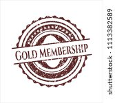 red gold membership distressed ... | Shutterstock .eps vector #1113382589