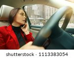 driving and stress. young... | Shutterstock . vector #1113383054