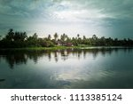 sky after rain and countryside...   Shutterstock . vector #1113385124