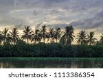 sky after rain and countryside...   Shutterstock . vector #1113386354