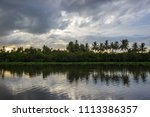 sky after rain and countryside...   Shutterstock . vector #1113386357