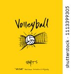sport poster   sketchy leisure ... | Shutterstock .eps vector #1113399305