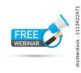 free webinar icon  logo  emblem ... | Shutterstock .eps vector #1113422471
