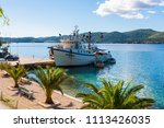 fishing ship on the adriatic...   Shutterstock . vector #1113426035
