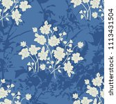 seamless floral pattern in folk ... | Shutterstock .eps vector #1113431504