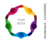 teamwork people icon isolated... | Shutterstock .eps vector #1113432041