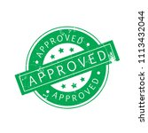 approved stamp isolated on...