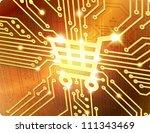 shopping cart vector electronic ... | Shutterstock .eps vector #111343469