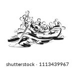 vector sketch of people on a... | Shutterstock .eps vector #1113439967