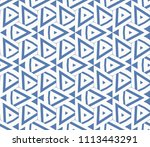seamless pattern with symmetric ... | Shutterstock .eps vector #1113443291