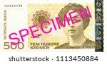 500 norwegian krone banknote... | Shutterstock . vector #1113450884