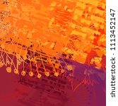 abstract painting on canvas.... | Shutterstock . vector #1113452147