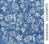 seamless floral pattern in folk ... | Shutterstock .eps vector #1113458975