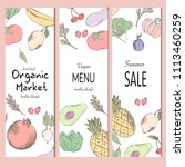 healthy food banner collection. ... | Shutterstock .eps vector #1113460259