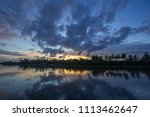 twilight sky after rain and...   Shutterstock . vector #1113462647