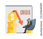 vector picture of the crisis  a ... | Shutterstock .eps vector #1113464039