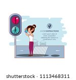 people in the street with a... | Shutterstock .eps vector #1113468311