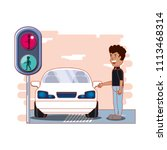 driver safely campaign label | Shutterstock .eps vector #1113468314
