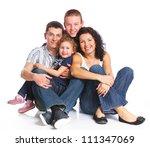 portrait of happy caucasian...   Shutterstock . vector #111347069