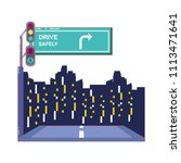driver safely campaign label | Shutterstock .eps vector #1113471641