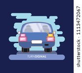 car with turn signal | Shutterstock .eps vector #1113472067